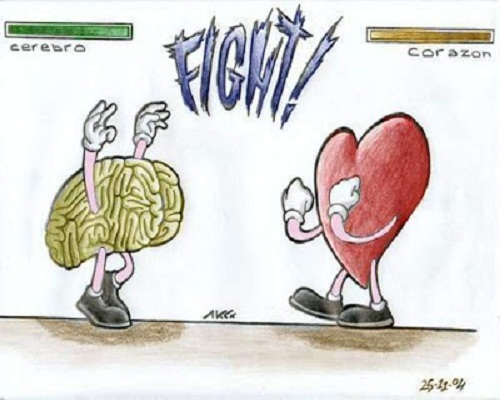 entre el corazón y el cerebro