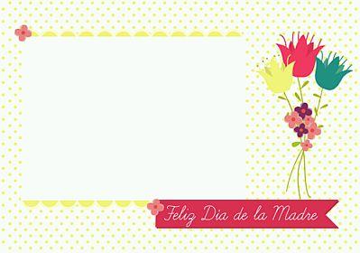 tarjeta feliz dia mama simple