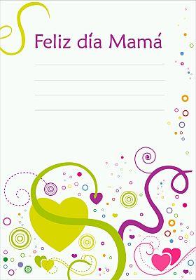 tarjeta para dedicar a mama en su dia