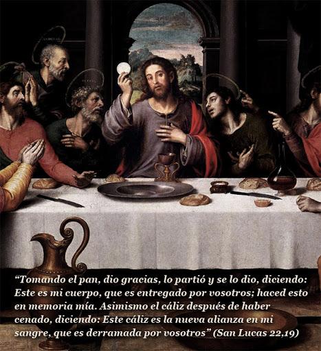 la ultima cena en el jueves santo