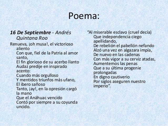 16 de septiembre en poema